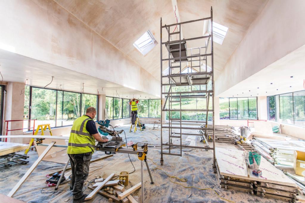 Tyn Dwr Hall renovation