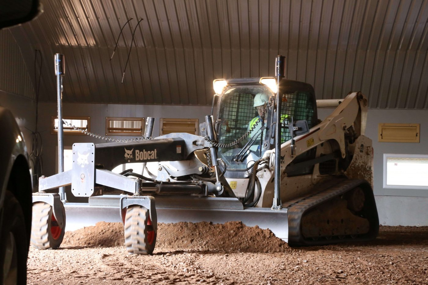 Bobcat in action for concrete flooring division