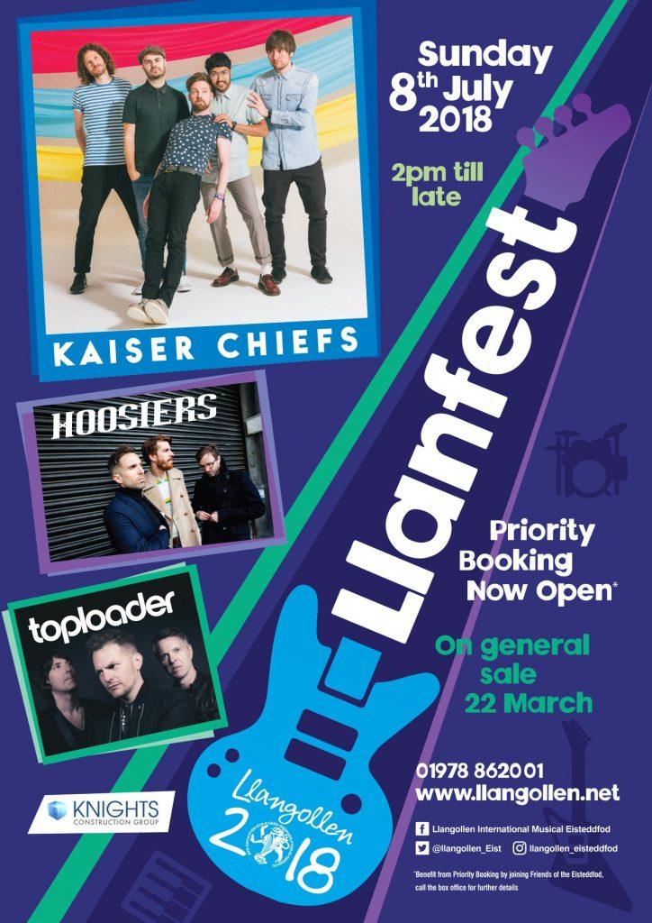Llanfest Kaiser Chiefs Poster
