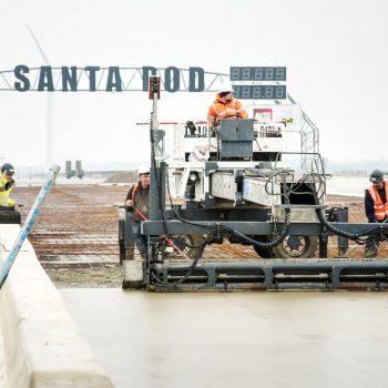 Santa Pod concrete laser screed