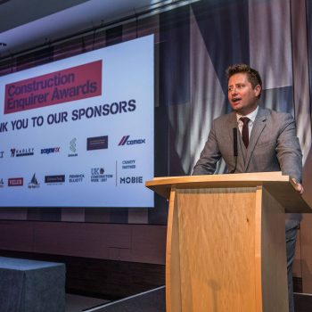George Clark at The Construction Enquirer Awards